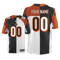Nike Cincinnati Bengals Men's Customized Elite Team/Road Two Tone Jersey