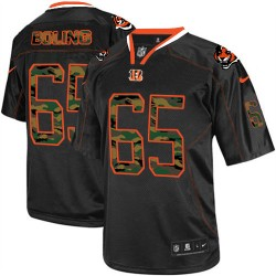 Cincinnati Bengals Clint Boling Official Nike Black Elite Adult Camo Fashion NFL Jersey
