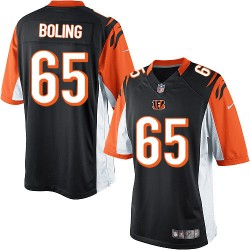 Cincinnati Bengals Clint Boling Official Nike Black Limited Adult Home NFL Jersey