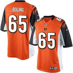 Cincinnati Bengals Clint Boling Official Nike Orange Limited Adult Alternate NFL Jersey