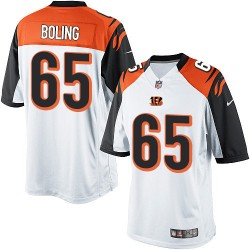 Cincinnati Bengals Clint Boling Official Nike White Limited Adult Road NFL Jersey