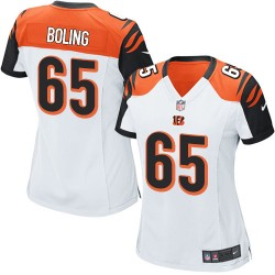 Cincinnati Bengals Clint Boling Official Nike White Elite Women's Road NFL Jersey