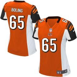 Cincinnati Bengals Clint Boling Official Nike Orange Game Women's Alternate NFL Jersey
