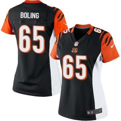 Cincinnati Bengals Clint Boling Official Nike Black Limited Women's Home NFL Jersey