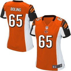 Cincinnati Bengals Clint Boling Official Nike Orange Limited Women's Alternate NFL Jersey