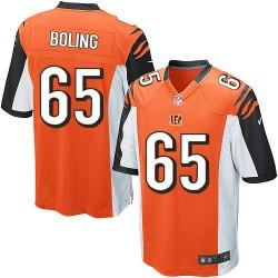 Cincinnati Bengals Clint Boling Official Nike Orange Elite Youth Alternate NFL Jersey
