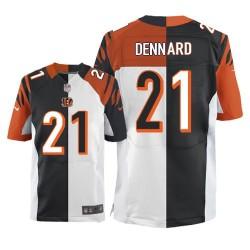 Cincinnati Bengals Darqueze Dennard Official Nike Two Tone Elite Adult Team/Road NFL Jersey