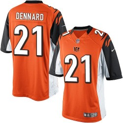 Cincinnati Bengals Darqueze Dennard Official Nike Orange Limited Adult Alternate NFL Jersey