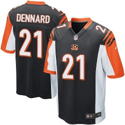 Cincinnati Bengals Darqueze Dennard Official Nike Black Game Adult Home NFL Jersey