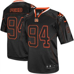 Cincinnati Bengals Domata Peko Official Nike Lights Out Black Elite Adult NFL Jersey