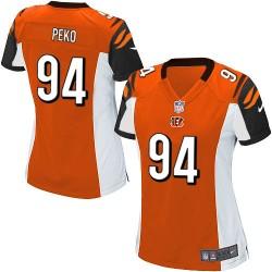 Cincinnati Bengals Domata Peko Official Nike Orange Elite Women's Alternate NFL Jersey