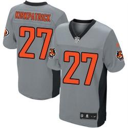 Cincinnati Bengals Dre Kirkpatrick Official Nike Grey Shadow Elite Adult NFL Jersey
