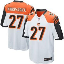 Cincinnati Bengals Dre Kirkpatrick Official Nike White Game Adult Road NFL Jersey