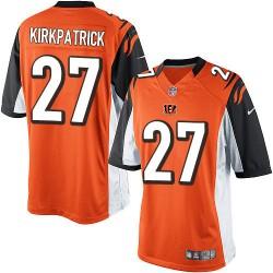 Cincinnati Bengals Dre Kirkpatrick Official Nike Orange Limited Adult Alternate NFL Jersey