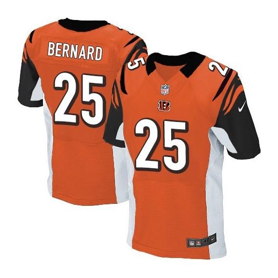 Cincinnati Bengals Giovani Bernard Official Nike Orange Elite Adult Alternate NFL Jersey