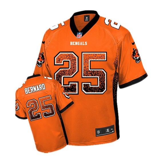 Cincinnati Bengals Giovani Bernard Official Nike Orange Game Adult Drift Fashion NFL Jersey