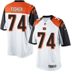 Cincinnati Bengals Jake Fisher Official Nike White Limited Adult Road NFL Jersey