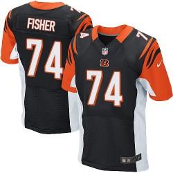 Cincinnati Bengals Jake Fisher Official Nike Black Elite Adult Home NFL Jersey