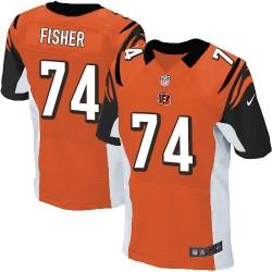 Cincinnati Bengals Jake Fisher Official Nike Orange Elite Adult Alternate NFL Jersey