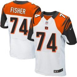Cincinnati Bengals Jake Fisher Official Nike White Elite Adult Road NFL Jersey