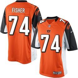 Cincinnati Bengals Jake Fisher Official Nike Orange Limited Adult Alternate NFL Jersey