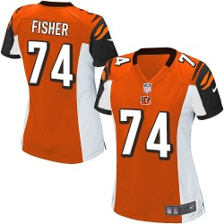 Cincinnati Bengals Jake Fisher Official Nike Orange Elite Women's Alternate NFL Jersey