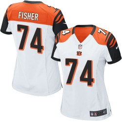 Cincinnati Bengals Jake Fisher Official Nike White Game Women's Road NFL Jersey