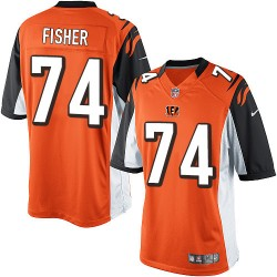Cincinnati Bengals Jake Fisher Official Nike Orange Elite Youth Alternate NFL Jersey