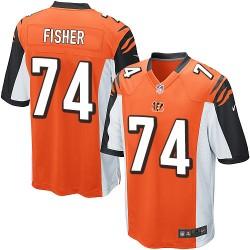 Cincinnati Bengals Jake Fisher Official Nike Orange Game Youth Alternate NFL Jersey