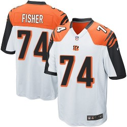 Cincinnati Bengals Jake Fisher Official Nike White Game Youth Road NFL Jersey