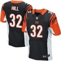 Cincinnati Bengals Jeremy Hill Official Nike Black Elite Adult Home NFL Jersey