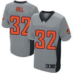 Cincinnati Bengals Jeremy Hill Official Nike Grey Shadow Elite Adult NFL Jersey
