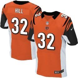 Cincinnati Bengals Jeremy Hill Official Nike Orange Elite Adult Alternate NFL Jersey