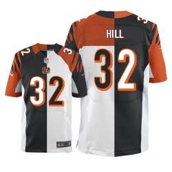 Cincinnati Bengals Jeremy Hill Official Nike Two Tone Elite Adult Team/Road NFL Jersey