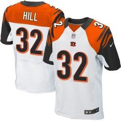 Cincinnati Bengals Jeremy Hill Official Nike White Elite Adult Road NFL Jersey
