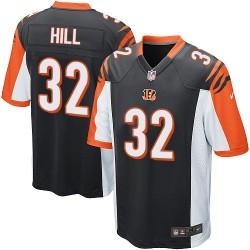 Cincinnati Bengals Jeremy Hill Official Nike Black Game Adult Home NFL Jersey