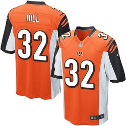 Cincinnati Bengals Jeremy Hill Official Nike Orange Game Adult Alternate NFL Jersey
