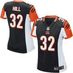Cincinnati Bengals Jeremy Hill Official Nike Black Game Women's Home NFL Jersey