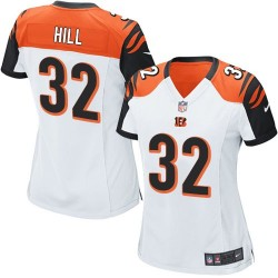 Cincinnati Bengals Jeremy Hill Official Nike White Game Women's Road NFL Jersey