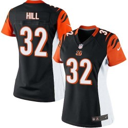 Cincinnati Bengals Jeremy Hill Official Nike Black Limited Women's Home NFL Jersey