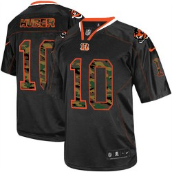 Cincinnati Bengals Kevin Huber Official Nike Black Elite Adult Camo Fashion NFL Jersey