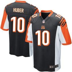 Cincinnati Bengals Kevin Huber Official Nike Black Game Adult Home NFL Jersey