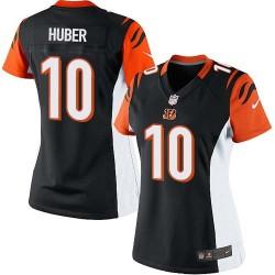 Cincinnati Bengals Kevin Huber Official Nike Black Limited Women's Home NFL Jersey