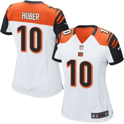 Cincinnati Bengals Kevin Huber Official Nike White Limited Women's Road NFL Jersey