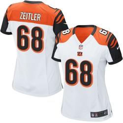 Cincinnati Bengals Kevin Zeitler Official Nike White Elite Women's Road NFL Jersey