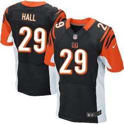 Cincinnati Bengals Leon Hall Official Nike Black Elite Adult Home NFL Jersey