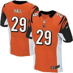 Cincinnati Bengals Leon Hall Official Nike Orange Elite Adult Alternate NFL Jersey