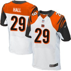 Cincinnati Bengals Leon Hall Official Nike White Elite Adult Road NFL Jersey