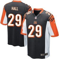 Cincinnati Bengals Leon Hall Official Nike Black Game Adult Home NFL Jersey