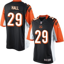 Cincinnati Bengals Leon Hall Official Nike Black Limited Adult Home NFL Jersey